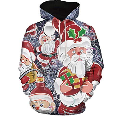 Soupliebe Frauen Weihnachten Langarm Wapiti Bluse Sweatshirt Pullover Casual Tops Kapuzen...