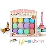 Elegantes 12 Stück/Set DIY Squishy Plasticine Bunte Macaron Kristall Schleim Spielzeug Blasen Schlamm lustiges Kinder Geschenk