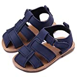 xhorizon ® FLK Kleinkind Baby Jungen Kinder Nubukleder Sandale Schuhe