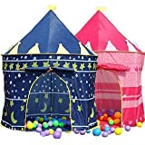 Global Sales Store - Prince or princess summer Palace Castle Children kids Play Tent house indoor or outdoor garden toy wendy house playhouse beach sun tent boys girls