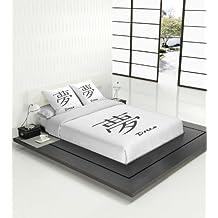 TSUKI Juego Funda Nórdica Japonesa Dream Negro/Blanco/Zen Chillout (Cama ...