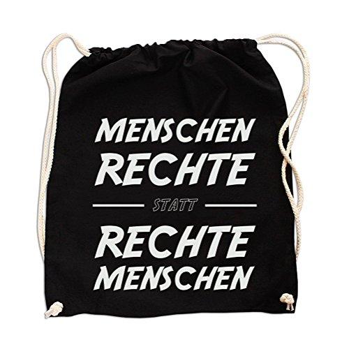 Menschen Rechte statt Rechte Menschen Gym Bag Black - Bier Hoodie-beutel