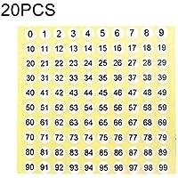 Etiqueta de tamaño de zapato de forma redonda de etiqueta de número de 20 PCS, número 0-99, El embalaje conveniente