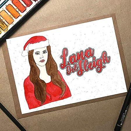 Christmas Card, Girlfriend Christmas Card, Lana Del Rey Christmas Card, Music Christmas Card, Wife Christmas Gift