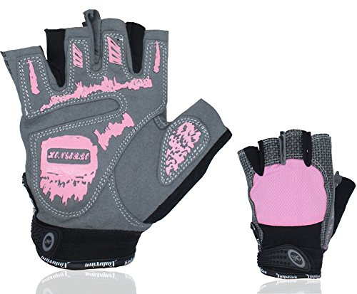 Netrox Fitness Handschuhe für Damen Trainingshandschuhe Sporthandschuhe Fitnesshandschuhe Sport Gewichtheben Workout Krafttraining Kraftsport Bodybuilding Gym Gloves Pink Rosa (S)