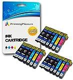 18 Tintenpatronen kompatibel zu Epson 26XL für Epson Expression Premium XP-510 XP-520 XP-600 XP-605 XP-610 XP-615 XP-620 XP-625 XP-700 XP-710 XP-720 XP-800 XP-810 XP-820 - Schwarz/Foto Schwarz/Cyan/Magenta/Gelb, hohe Kapazität