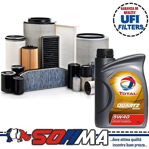 KIT TAGLIANDO CON 4 LT OLIO TOTAL 5W40 + 4 FILTRI ORIGINALI SOFIMA (S5037PE; S5702A; S4343NR; S3038C)