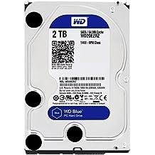 """WD Blue - Disco duro para ordenadores de sobremesa de 2 TB (5400 rpm, SATA a 6 Gb/s, 64 MB de caché, 3,5"""") azul"""