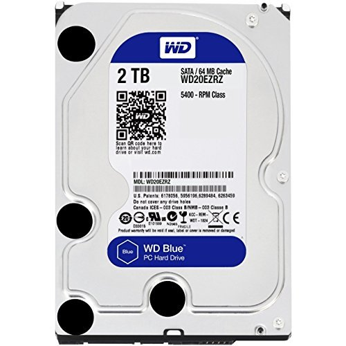 Western Digital Blue WD20EZRZ Disque Dur Interne 3,5 pouces 2 To SATA...