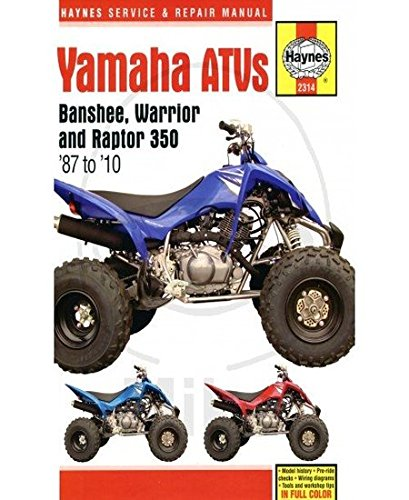 Yamaha Banshee, Warrior & Raptor 350 ATVs (Haynes Service & Repair Manual, Band 2314)