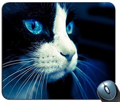 Schwarze Katzen-Hintergrund-Mausunterlage, rutschfeste Gummibasis der Spiel-Mausunterlage, personalisierte Mausunterlage für Computer u. Laptop -
