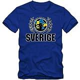 Schweden WM 2018#2 T-Shirt | Fußball | Herren | Trikot | Blågult | Nationalmannschaft, Farbe:Blau (Royalblue L190);Größe:M