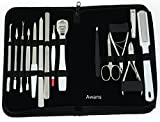 15 in 1 Stainless Nail Clipper, Nipper Cutter, Pedicure, Manicure Set Kit Case Bag