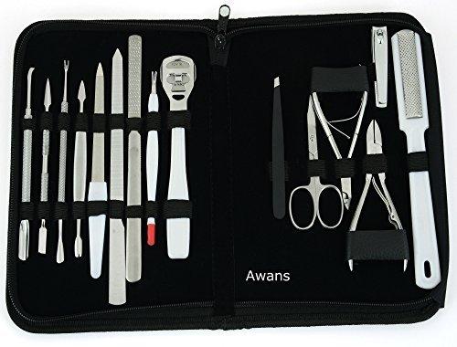 15 en 1 cortadora de uñas inoxidable, cortador de pinzas, pedicura, kit de...
