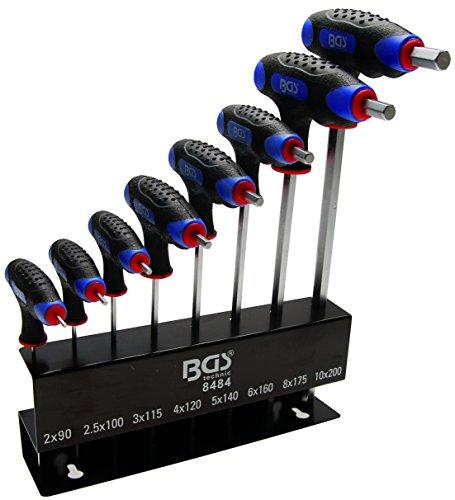 Preisvergleich Produktbild BGS T-Griff-Schlüssel Satz, Innen-6-kant, 2-10 mm, 8-teilig, 1 Stück, 8484