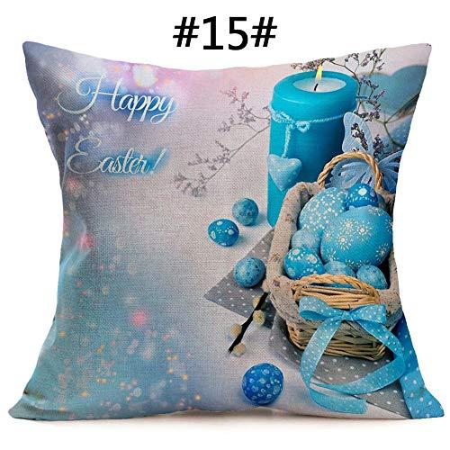 Eternitry federe per cuscini di pasqua coniglio uovo stampa federe per cuscini di moda semplice moda morbida e accogliente 43x43 cm copricuscino per divano letto home decor
