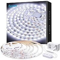 Govee Tira LED Blanco Frío 5M, Tiras LED Regulable Iliminición 2835 300 LED 6500K, Luces Kits Flexible para Armario, Dormitorio, Muebles, Cocina