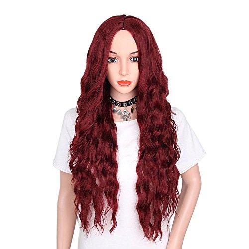 Falamka perruque longue à petites boucles pour le quotidien