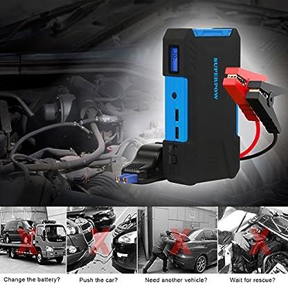 519lCWaUY7L. SS416  - Superpow 800A Batería Arrancador de Coche, Jump Starter Portátil QC 3.0 para Emergencia con Pinzas Inteligentes, LED, USB Puertos (Para vehículo hasta 5.2L de Diesel o 6.5L de Gasolina)