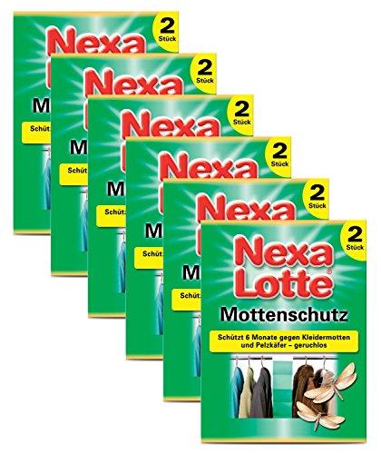 Oleanderhof Sparset: 6 x SCOTTS Nexa Lotte® Mottenschutz, 2 Stück + gratis Oleanderhof Flyer