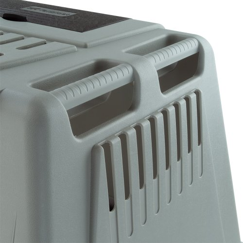 Ferplast 73079021W1 Autotransportbox ATLAS CAR MINI, für Hunde, Maße: 72 x 41 x 51 cm, grau -
