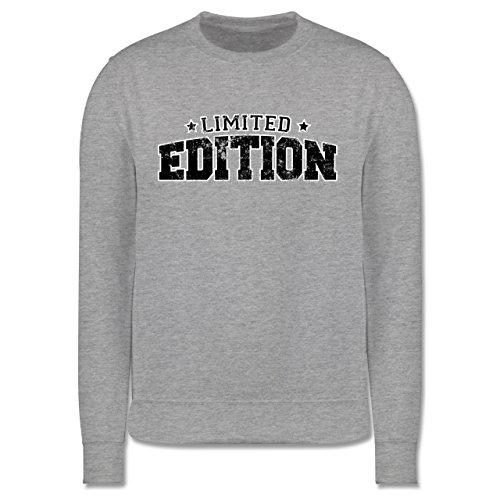 Statement Shirts - Limited Edition Vintage - Herren Premium Pullover Grau Meliert
