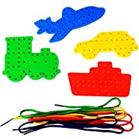 Amazing Arts and Crafts Transport Lacing Shapes