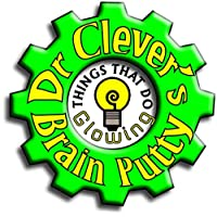 Dr Clever TM Stress Putty | Glow in the Dark | Sensory Relief | Fidget Toy | Relax and Concentrate | Unscented 20g tin