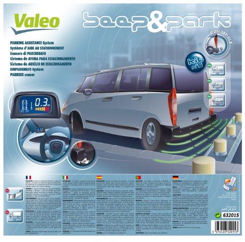 *Valeo 632015 Einparkhilfe Beep und Park mit 4 Sensoren und LCD-Anzeige*