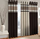 #10: Home Cloud Curtains / Content - Set of 3 Pcs Long Door Panel Curtain [4 Feet x 9 Feet]