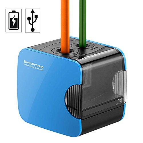 SMARTRO Elektrischer Anspitzer Bleistiftspitzmaschine Pencil Sharpener, USB oder Batterien Betrieben für Farbstift Bleistiftder