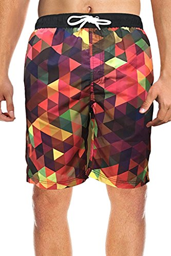 Minetom Sommer Herren Kurzhose Sporthose Jogginghose Herrenhose Casual Shorts Bermudades Sweatshorts Bermuda strandhose muster gedruckt Rot EU M (Classic Bikini Low Rise)