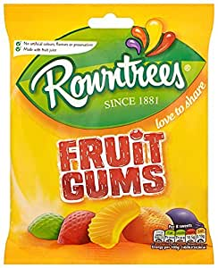 Rowntree's Fruit Gums Sharing Bag 170 g (Pack of 12)