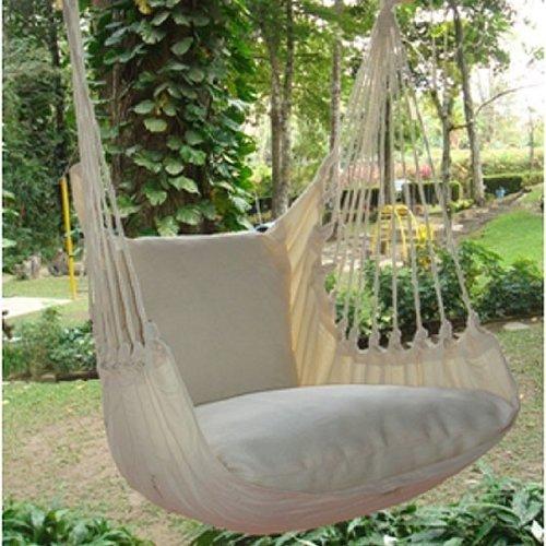 Holzenplotz Hängesessel Hängematte Hängestuhl aus Baumwolle mit 2 Kissen 3 Größen lieferb. Größe L 209