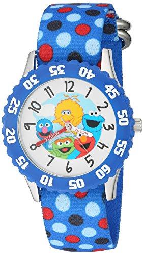 ewatchfactory-boys-sesame-street-quartz-stainless-steel-and-nylon-automatic-watch-colorblue-model-w0