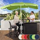Sonnenschirm 200 x 155 cm - Rechteckig, höhenverstellbar, knickbar, Farbwahl, Quadratisch, UV-Schutz - Gartenschirm, Marktschirm, Balkonschirm, Terassenschirm