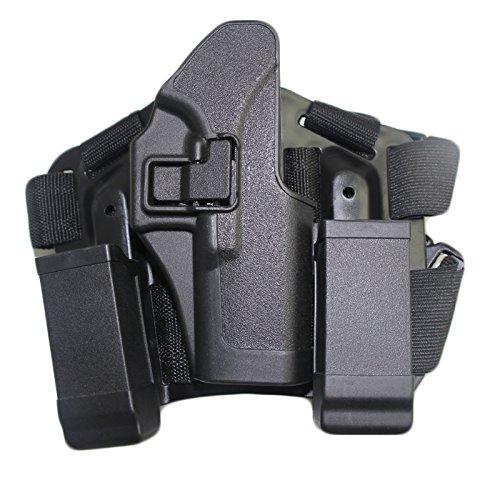 Airsoft Tactical Rechter Bein Schenkel Quick Hand Holster mit Magazin Tasche für Glock 17 19 22 23 31 32 (schwarz) Glock 23 Magazin-holster