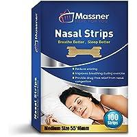 100 Medium Nasal Strips By Massner   Breathe Better Stop Snoring Nose Strips Helps Aid Sleeping   Congestion Relief... preisvergleich bei billige-tabletten.eu