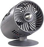 Sichler Haushaltsgeräte Leiser Ventilator: Retro-Tischventilator im Turbinen-Design, Oszillation, Ø 15 cm, 33 W (Vintage-Ventilator)