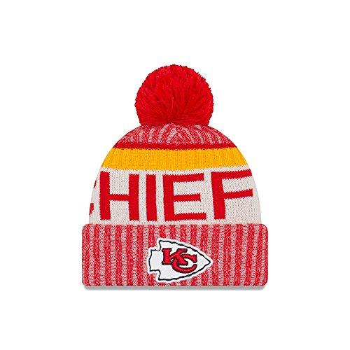 Kansas City Chiefs New Era 2017 NFL Sideline On Field Sport Knit Hat Hut - Red