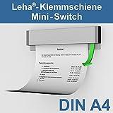 Leha Klemmschiene, Wandklemmschiene, Klemmleiste Switch silber DIN A4 Aluminium