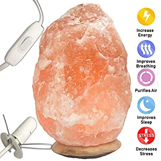 Natural Pink Himalayan Crystal Rock Salt Lamp 100% Authentic Finest Quality Crystals with CE Certified Standard Electric Plug and Bulb