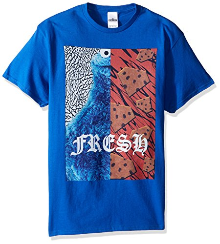 Sesamstraße Herren T-Shirt Krümelmonster Fresh - Blau - Groß (Street Erwachsene T-shirts Sesame Für)