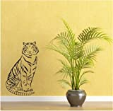 Dalinda Wandtattoo junger Tiger Nr. L358 Wandsticker Wandaufkleber Wanddeko