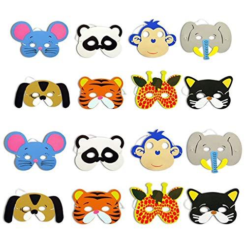 Yudanny 12 unids Máscara de Dibujos Animados Suministros EVA Espuma Animal Máscaras...