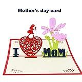 Muttertagskarte ich liebe Mutter 3d Blume Pop-up-Grußkarte Danksagung Dankeschön Karte Geschenke von Tochter