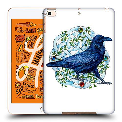 Jane Knopf (Head Case Designs Offizielle Jane Starr Weils Rabe Mit Knopf Symbole Und Ornamente Harte Rueckseiten Huelle kompatibel mit iPad Mini (2019))