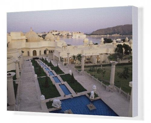 canvas-print-of-udai-vilas-oberoi-resort-hotel