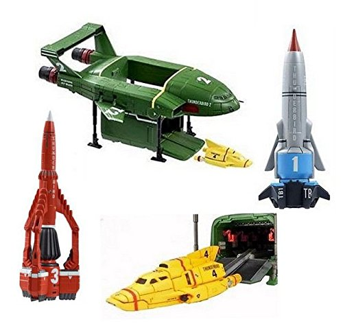 New Thunderbirds Are Go Official 4 Piece Vehicle Action Figures With Sound