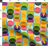 Bauhaus, Eis, Sommer, Grafisch, Geometrisch, Bunt Stoffe -